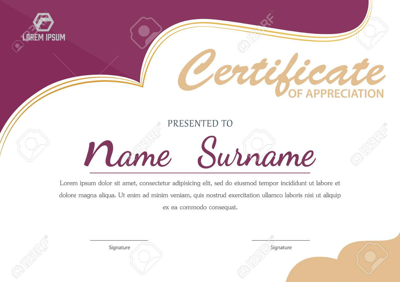 Certificate Template,diploma Layout,A4 Size ,vector Royalty Free ...