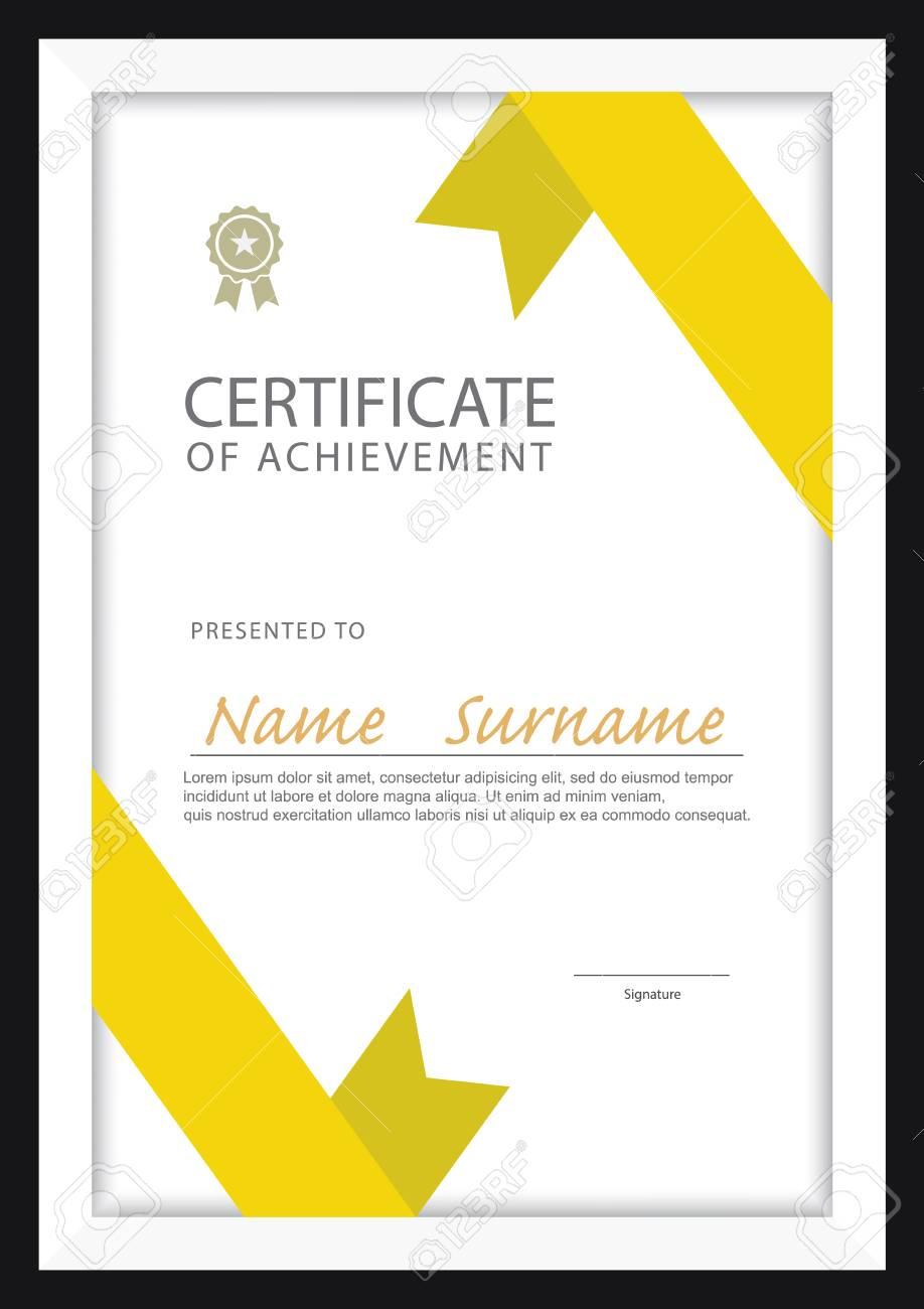 Plantilla De Certificado, Diploma Diseño, Tamaño A4, Vector ...