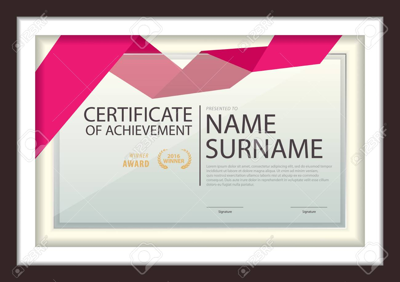 Certificate Template Diploma Layout A4 Size Vector Royalty Free