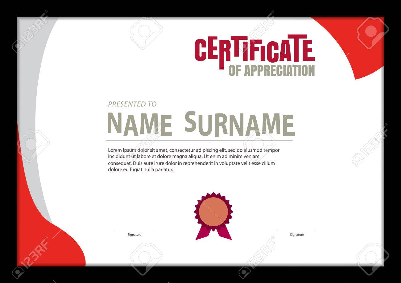 Certificate Template Abstract Diploma Layout A4 Size Vector Royalty