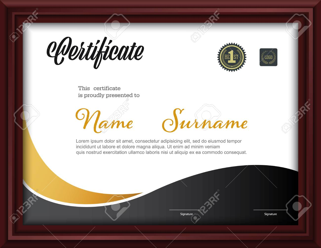 Certificate templateletter size diploma vector illustration certificate templateletter size diploma vector illustration stock vector 99732523 yadclub Gallery