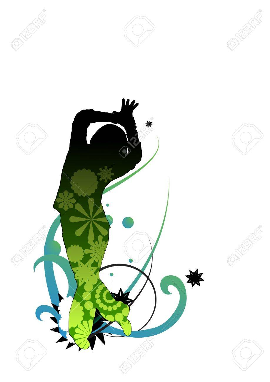 Vectored Dancer With Gradients And Opacity Mask Surrounded By ...