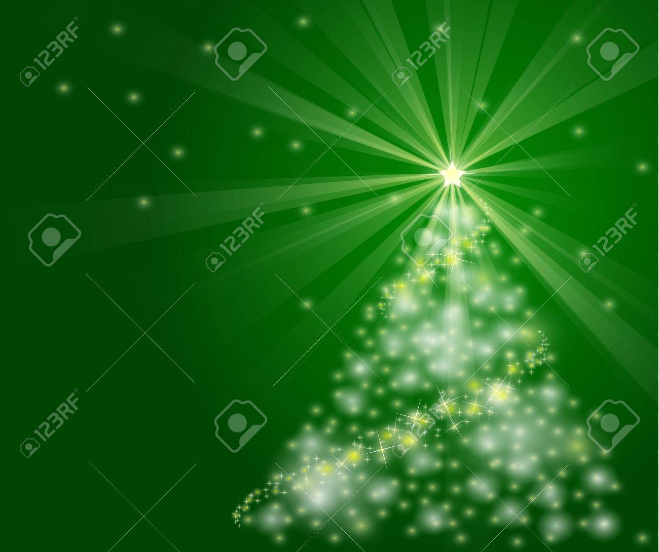 well detailed christmas tree illustration with bright, sparkly lights. EPS version 8 gradients and opacity used. Stock Vector - 11193556
