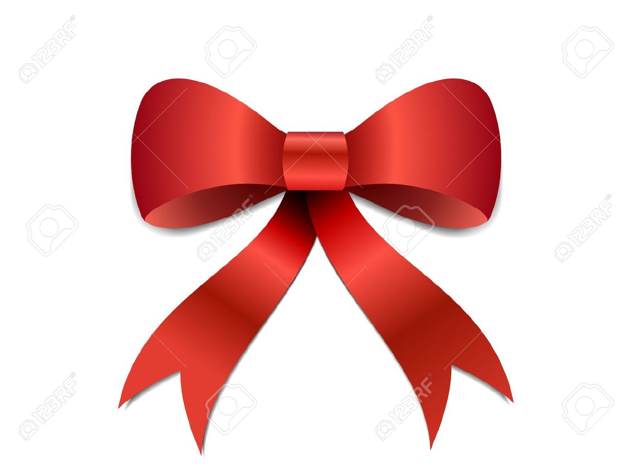Big Red Christmas Bow Illustration With Gradients And Opacity ...