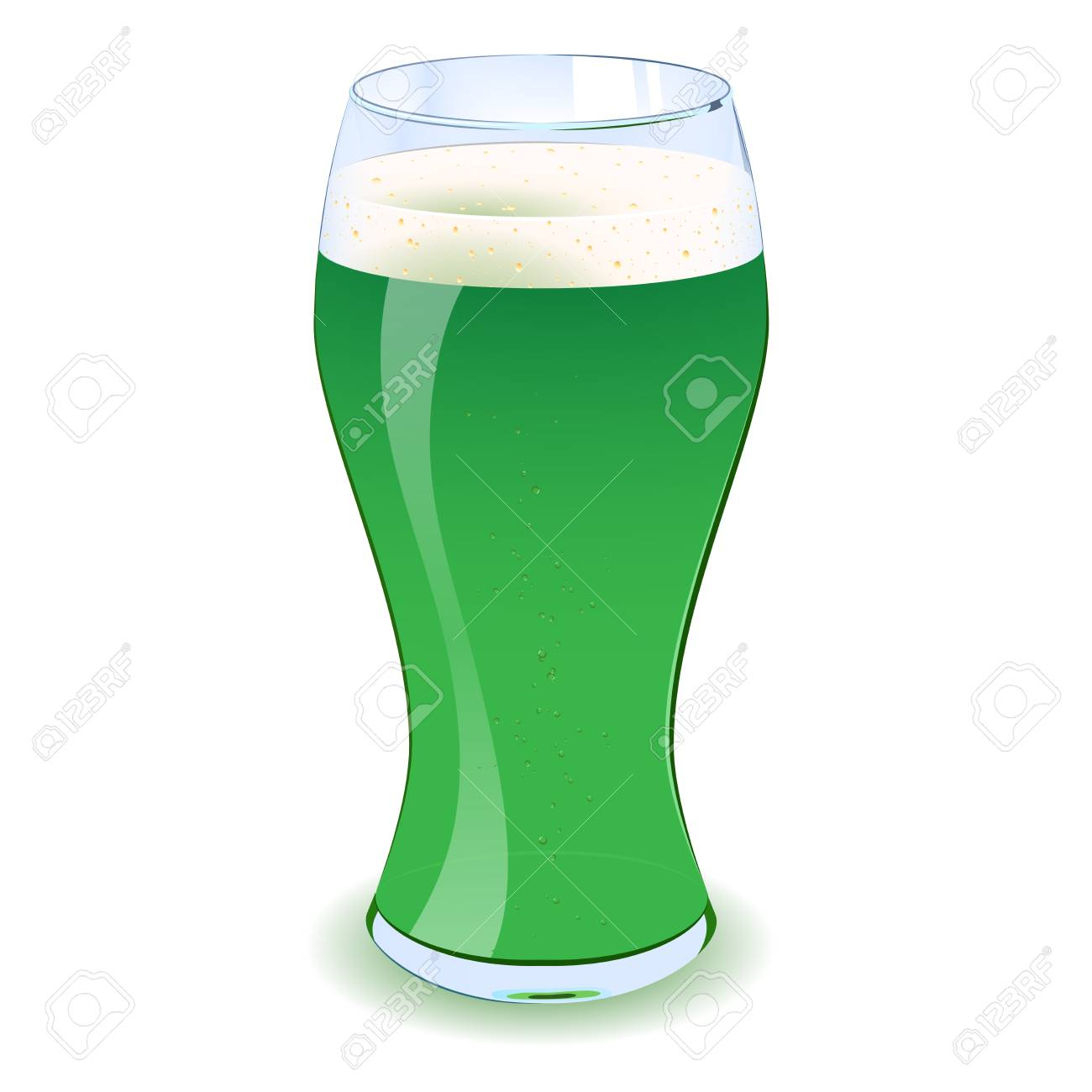 An illustration of a St Patricks green beer with bubbles in it  Eps V10 Stock Vector - 14307931