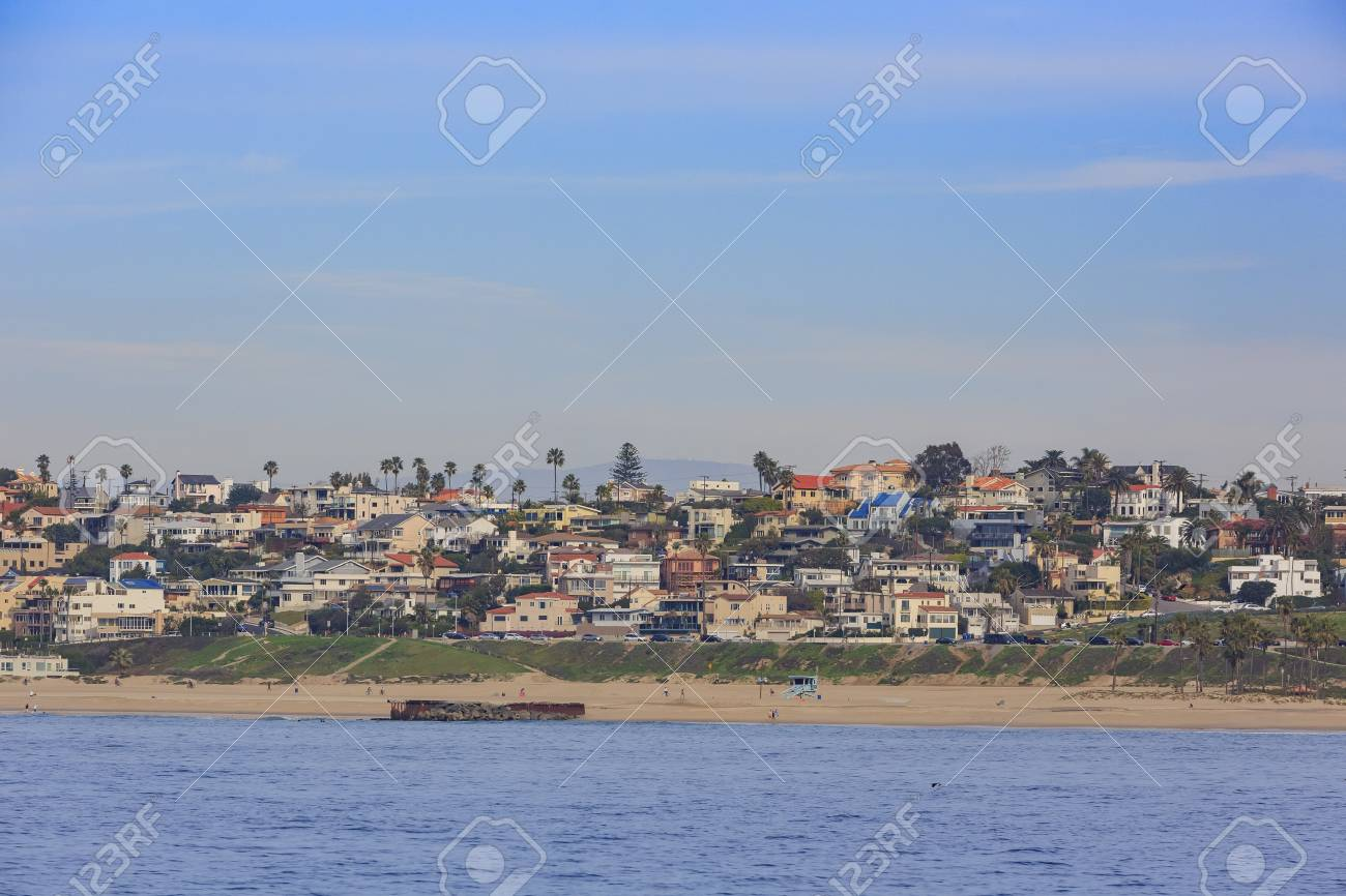 Morning View Of The Shore Near Manhattan Beach And Redondo Beach Stock Photo Picture And Royalty Free Image Image 71496589