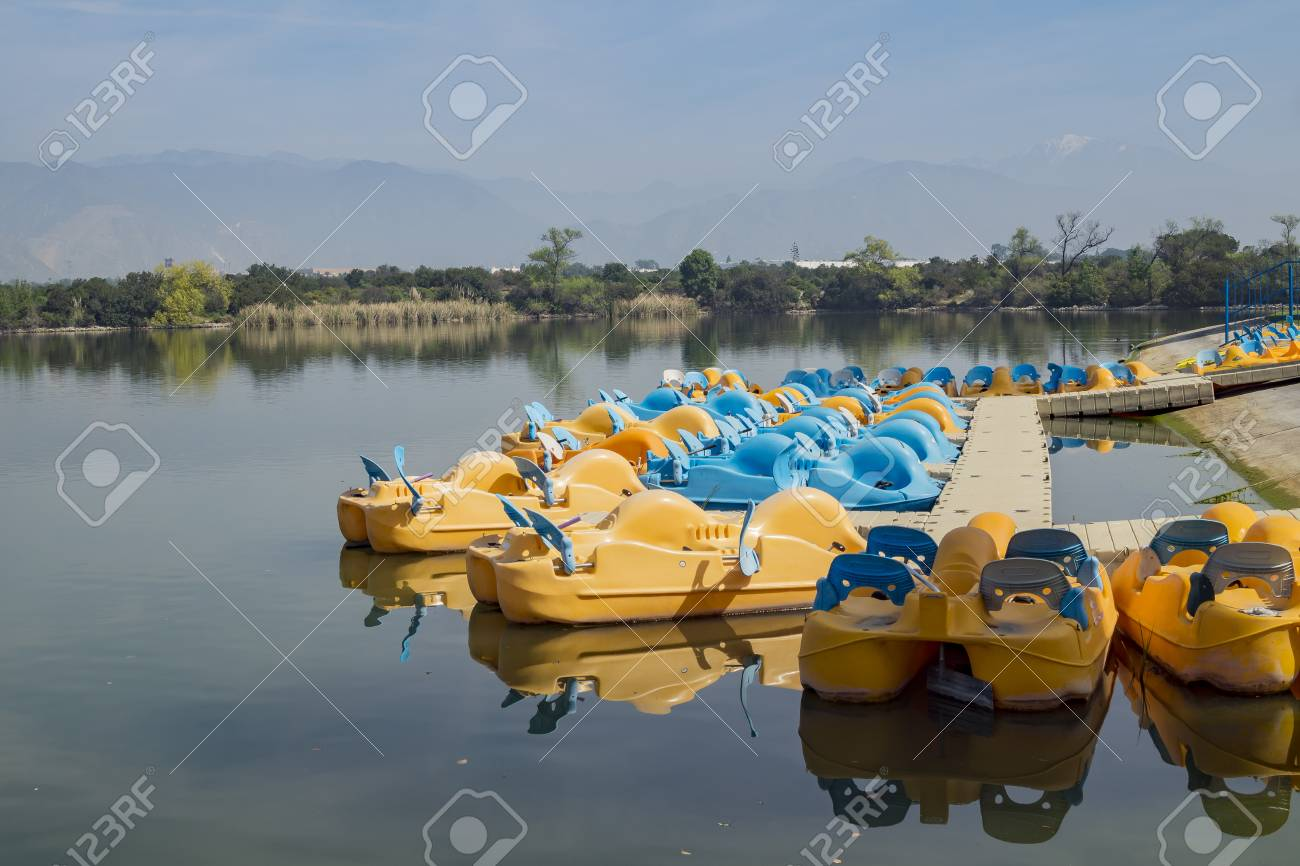 Boat And Ship Around Santa Fe Dam Recreation Area Los Angeles Stock Photo Picture And Royalty Free Image Image 74729133