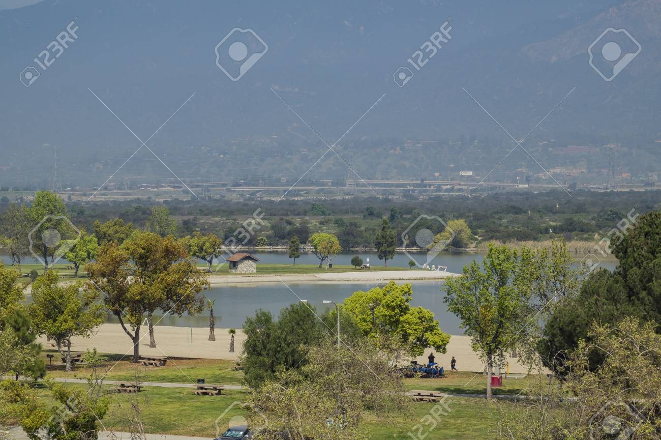 Landscape Around Santa Fe Dam Recreation Area Los Angeles County Stock Photo Picture And Royalty Free Image Image 74729278