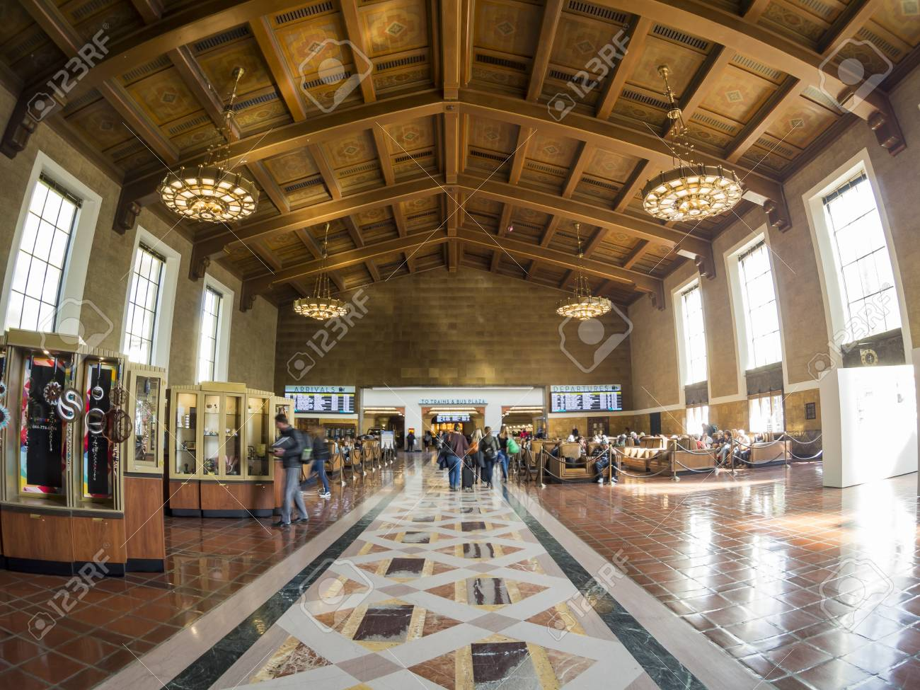 Los Angeles, MAR 3: Interior view of the famous Union Station