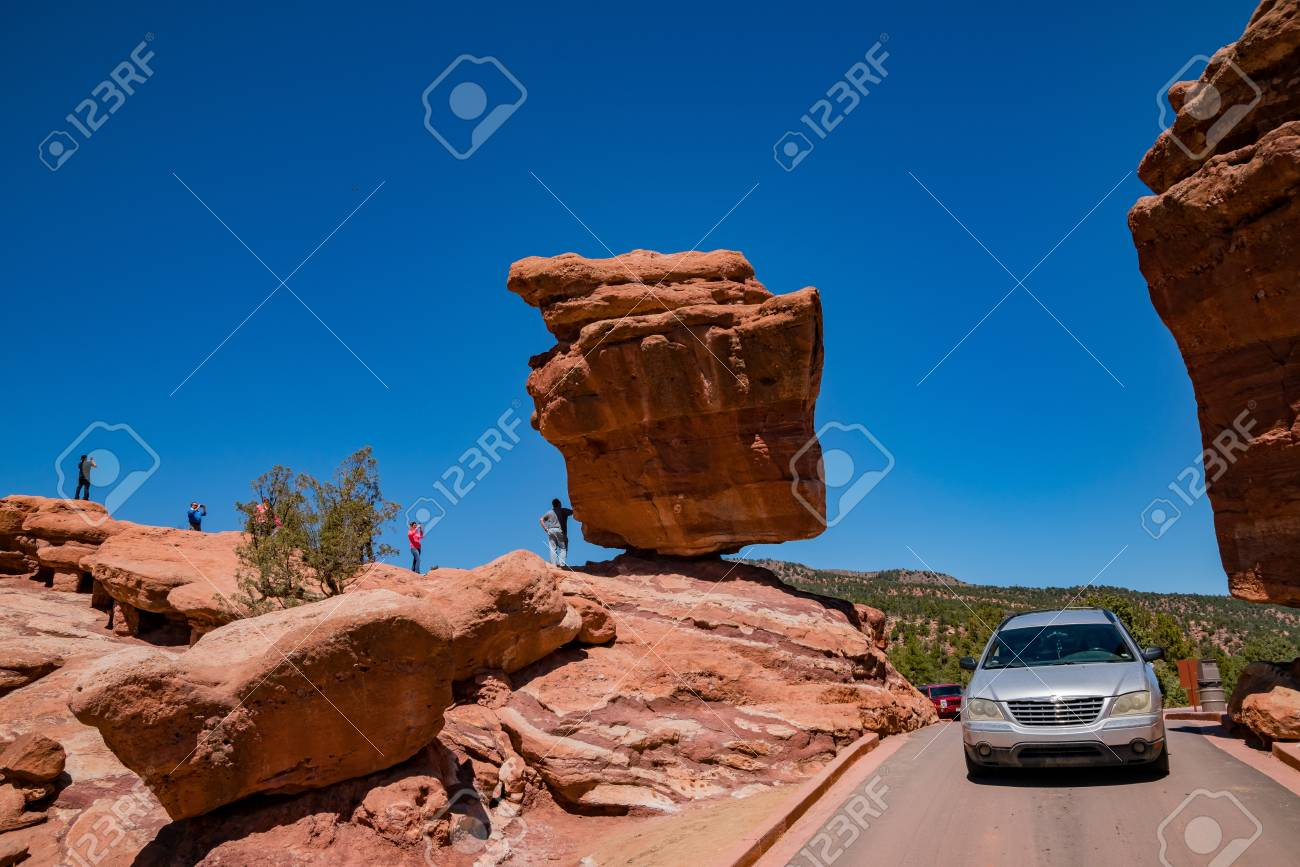 Manitou Springs May 4 Balanced Rock Of The Famous Garden Of