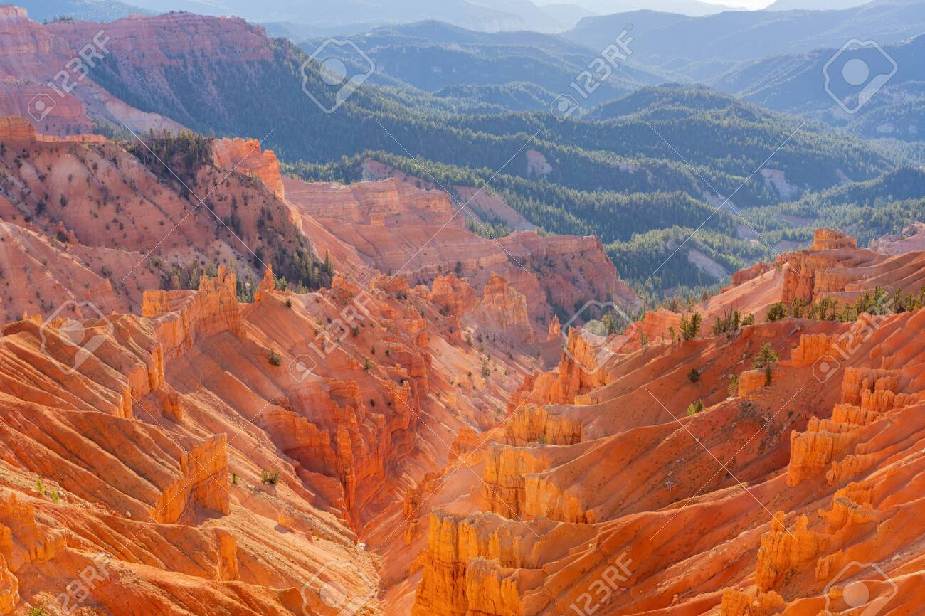 Beautiful landscape saw from Sunset View Overlook of Cedar Breaks National Monument at Utah, USA - 152927141