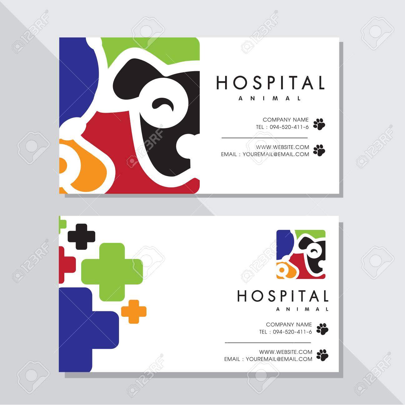 Business Card Vector Design And Animal Hospital Logo Royalty Free ...