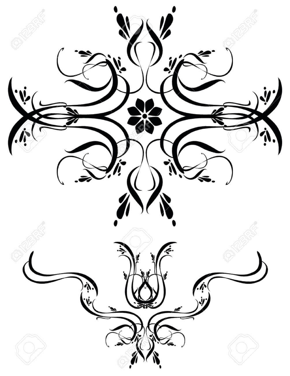 unique graphics useful as decorations ornaments and separators