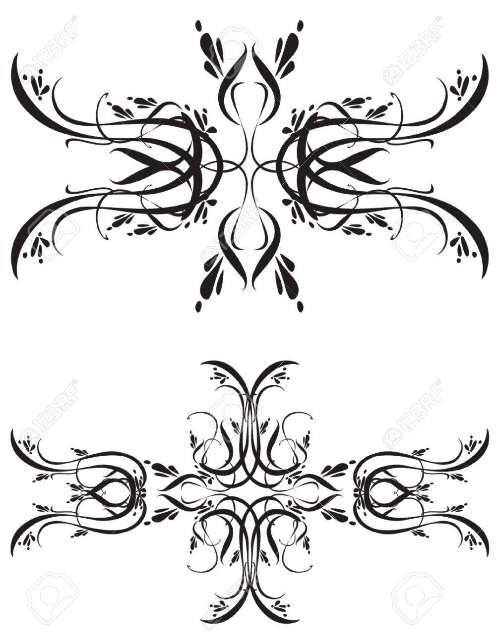 Black and white ornaments - Unique Graphics Useful As Decorations Ornaments And Separators Black Designs On A White Background