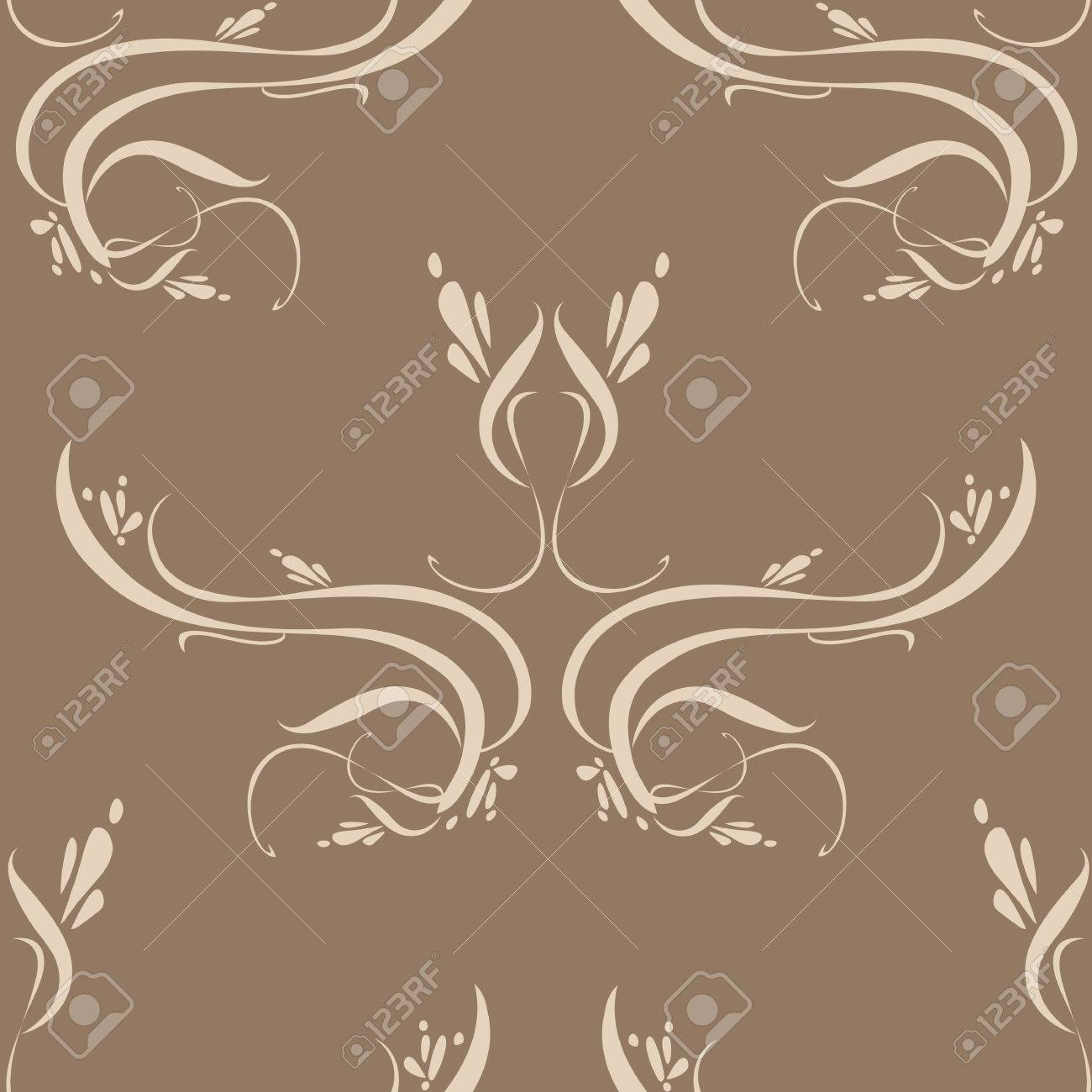 Seamless wallpaper tile background unique detail. Created in beautiful earth tone colors. Stock Vector - 1480511