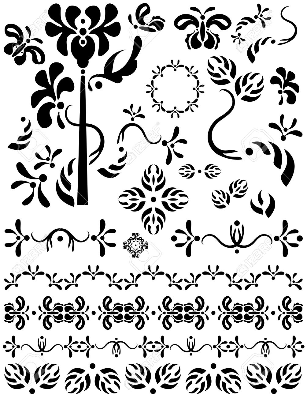 Divider on White Background on a White Background