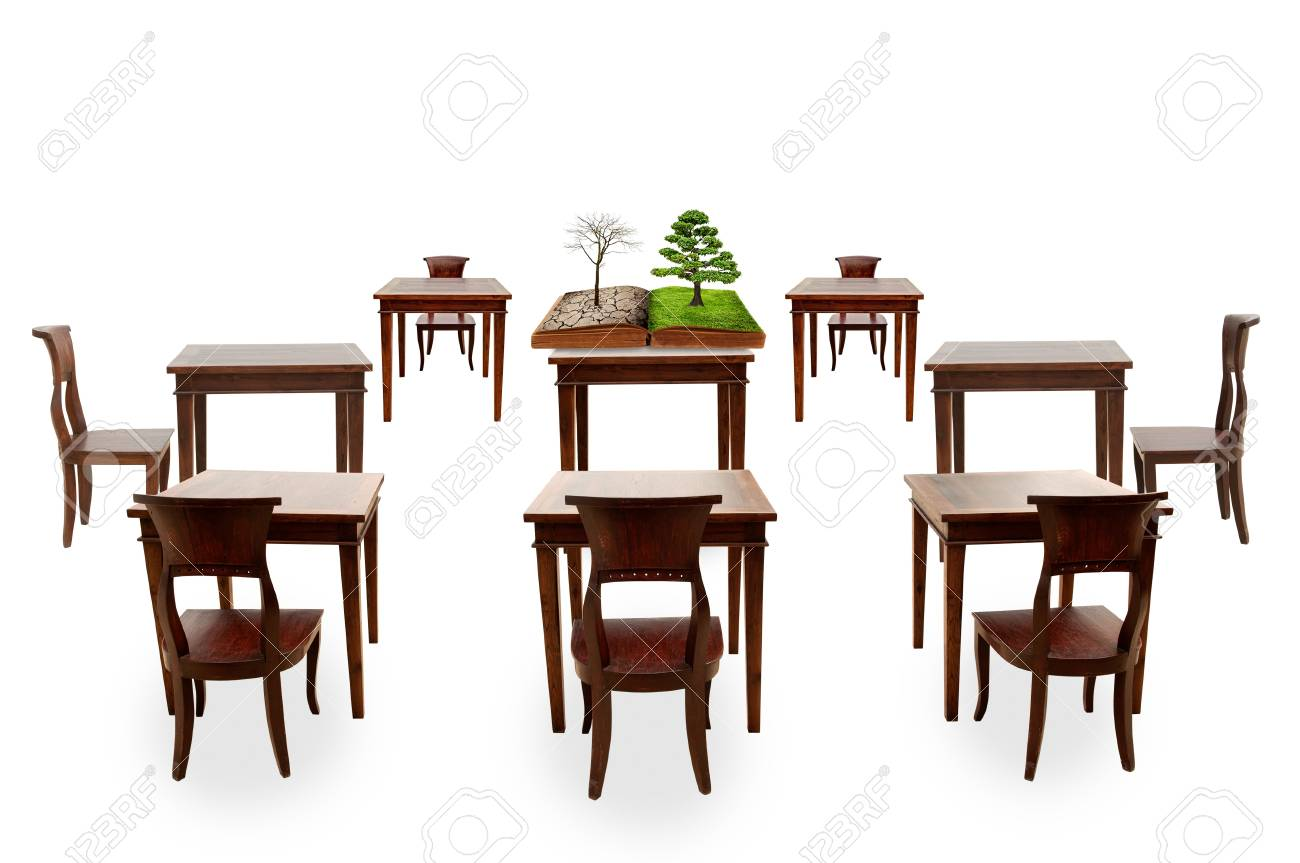 Class room student outdoor and global warming course Stock Photo - 17065378