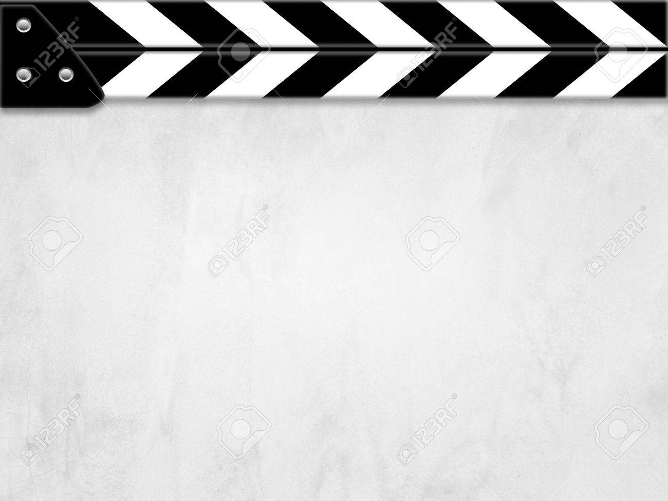 Clapper board or slate white board with texture - 17215405