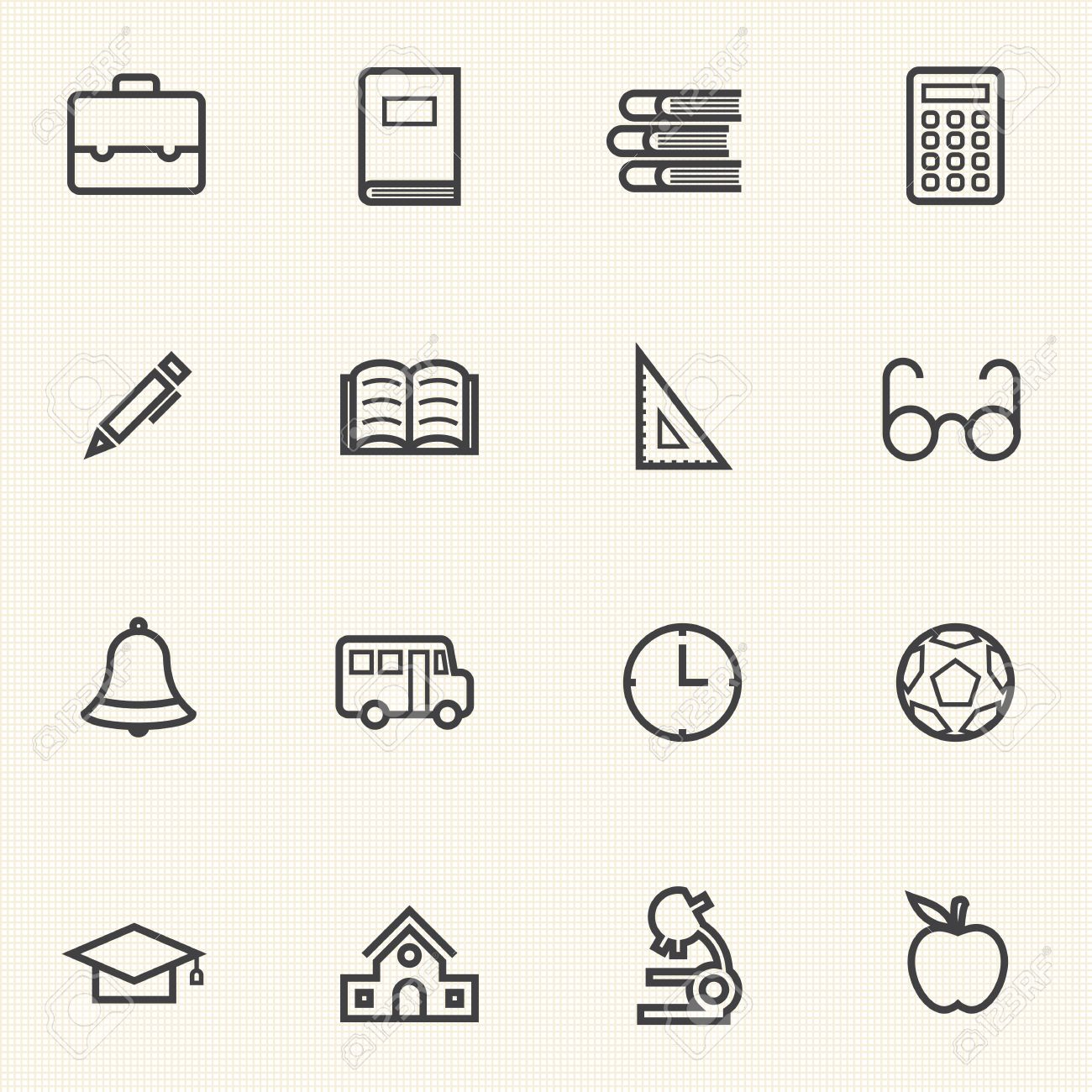 Simple Education icon sets  Line icons Stock Vector - 25279822