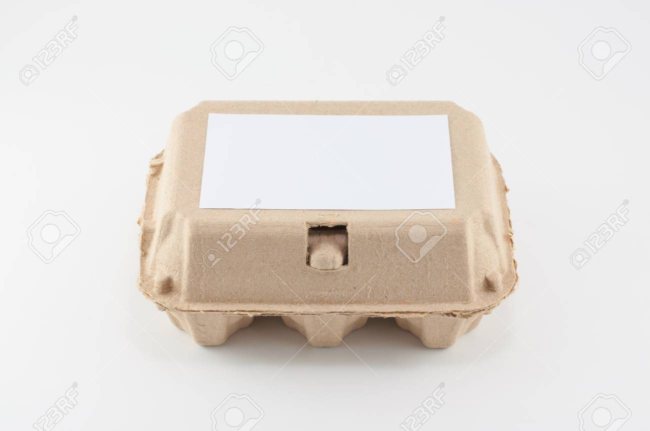 Paper Egg Box Egg Carton On White Background Stock Photo