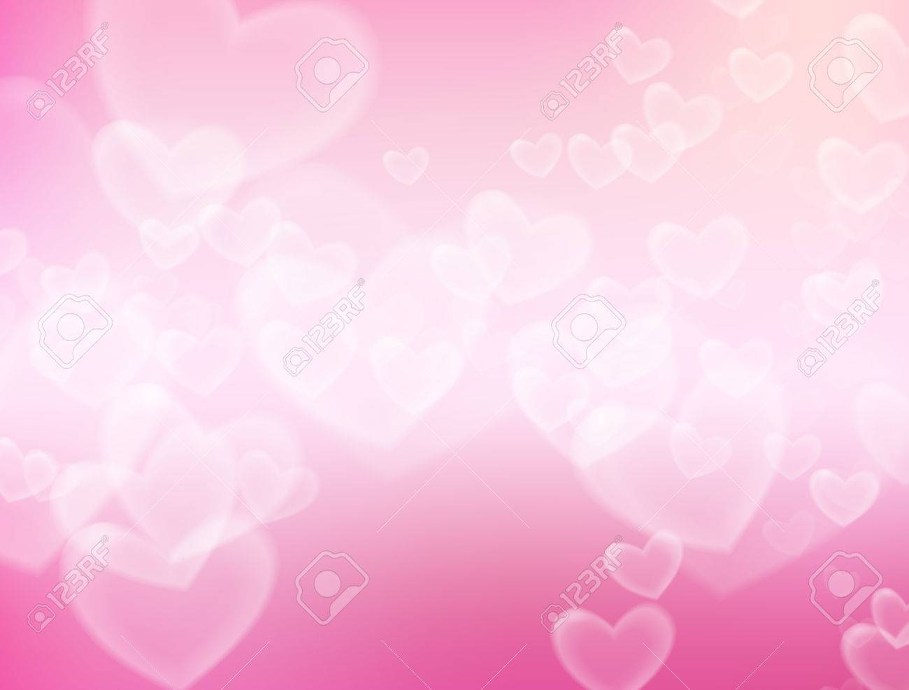 Valentine S Day Background Heart Flying In Soft Pink Background