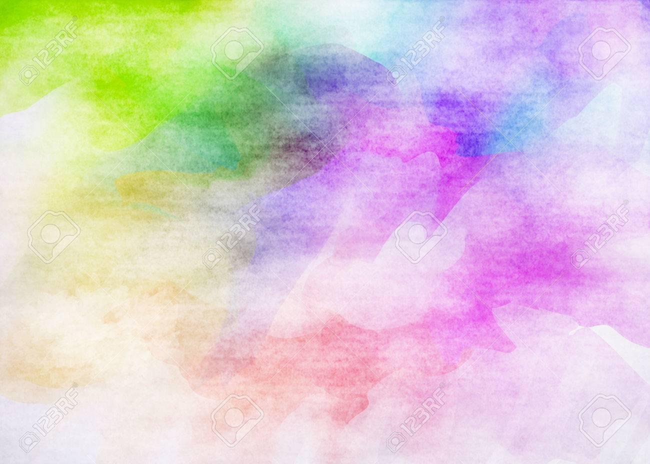 カラフルな水彩。グランジ テク...