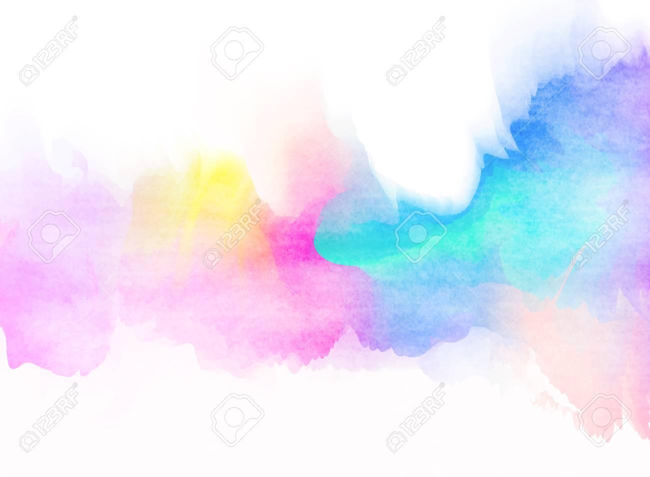 背景の抽象的なカラフルな水の色...