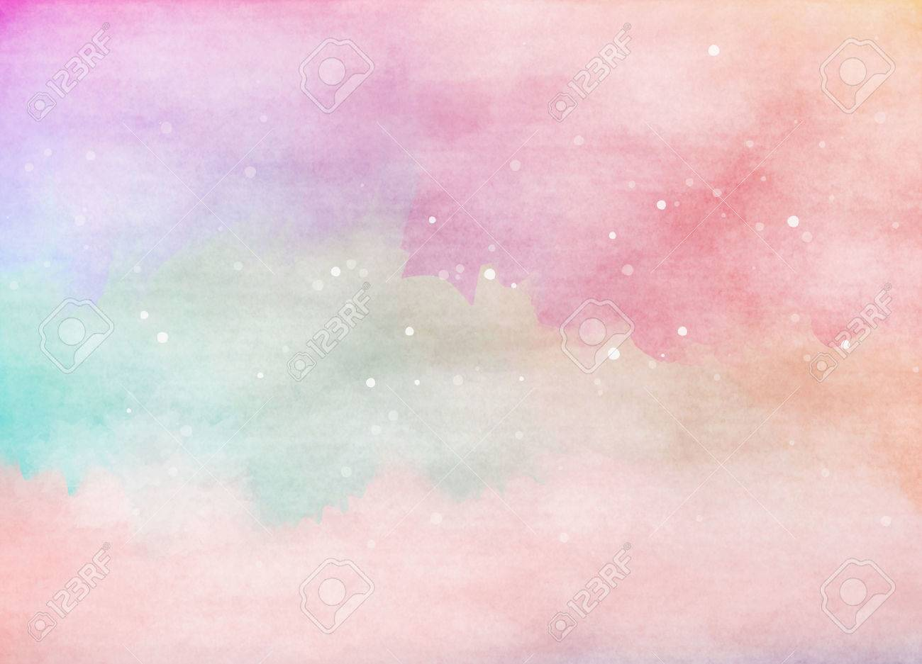 Abstract colorful watercolor background. Digital art painting. - 51936430