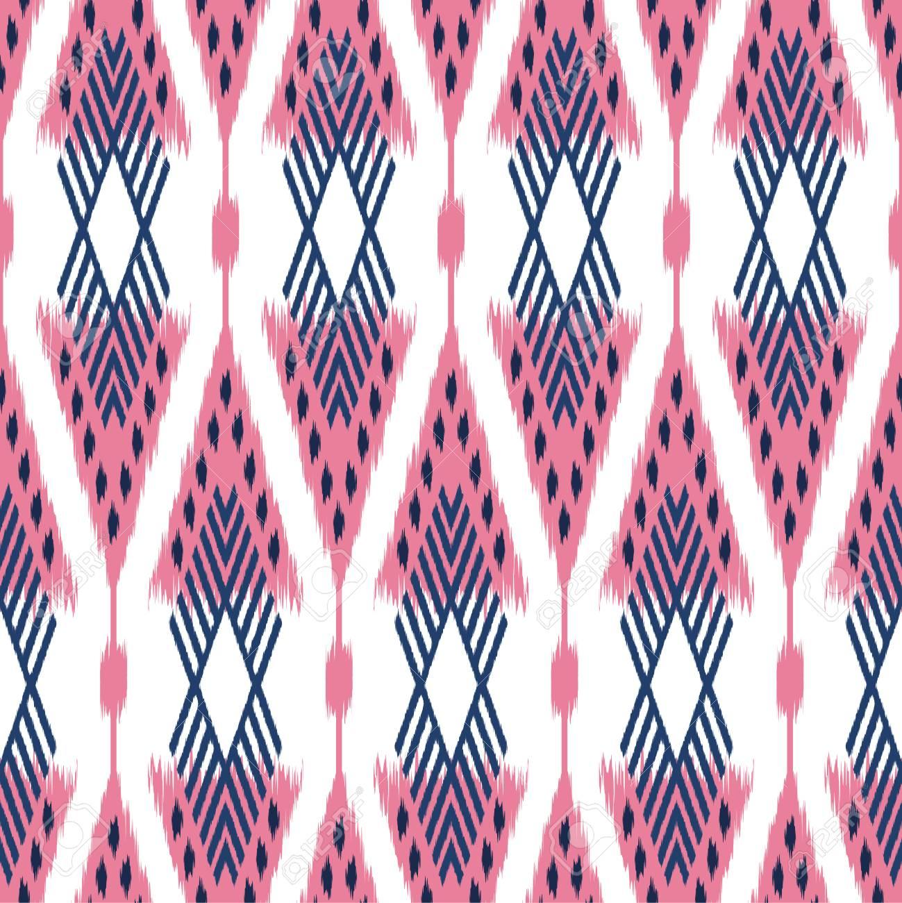 nahtloses muster ikat als stoff vorhang textildesign bettwsche tapete oberflchenbeschaffenheitshintergrund - Bettwasche Muster