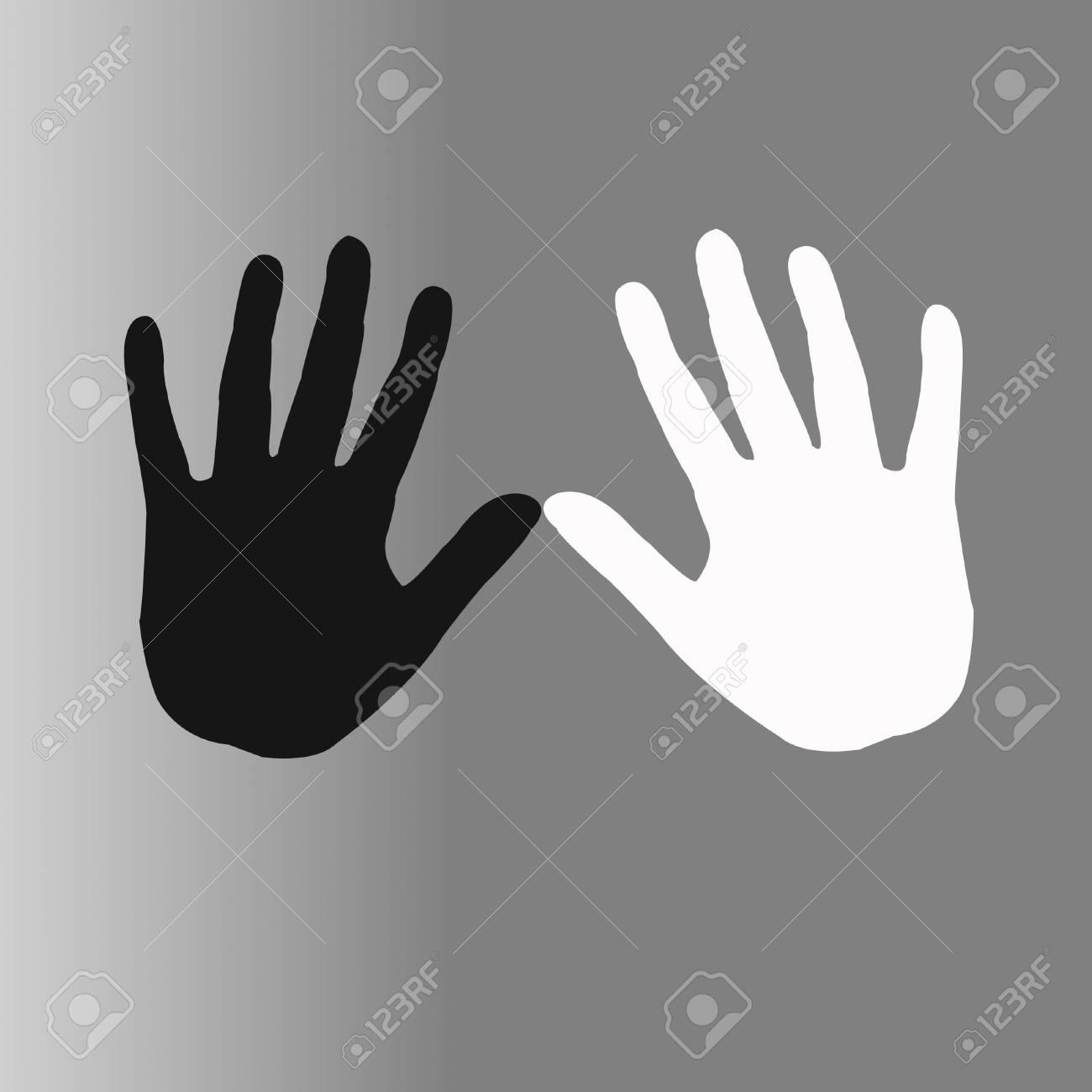 vector illustration of black and white hands Stock Illustration - 16992876