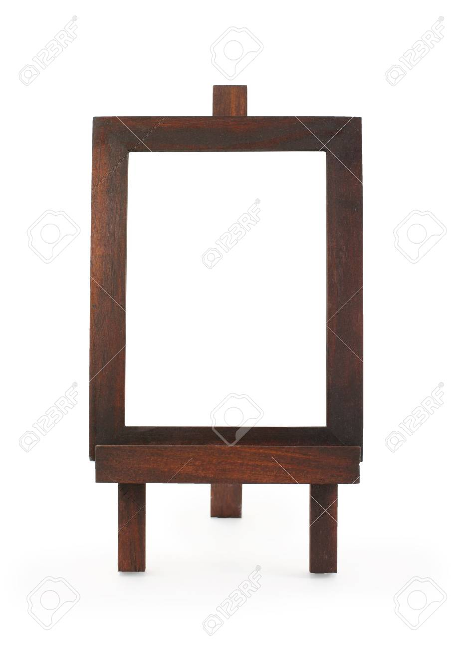Wooden Easel Frame Isolated On White. Stock Photo, Picture And ...