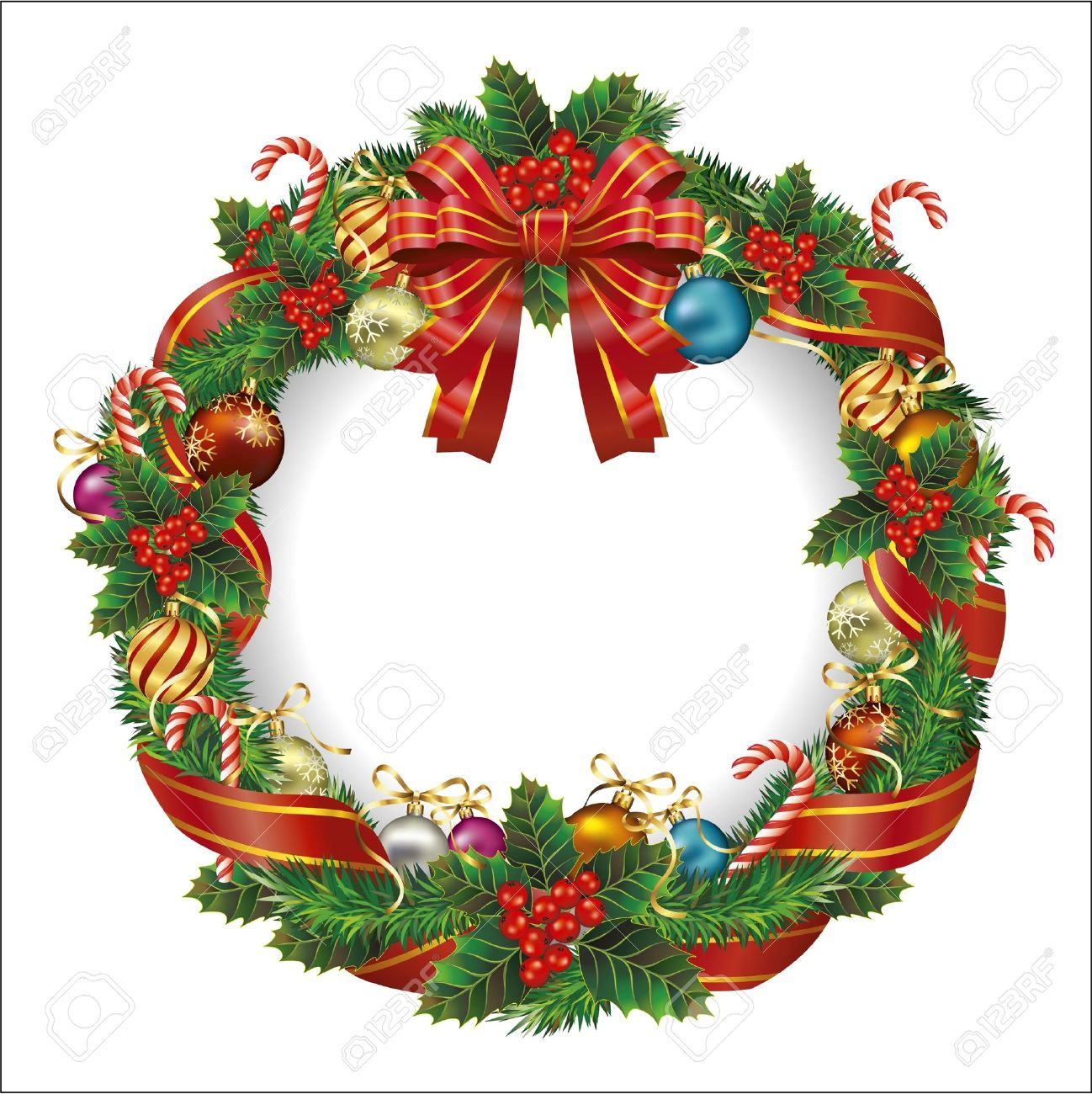 Christmas Wreath Vector.Christmas Wreath Vector