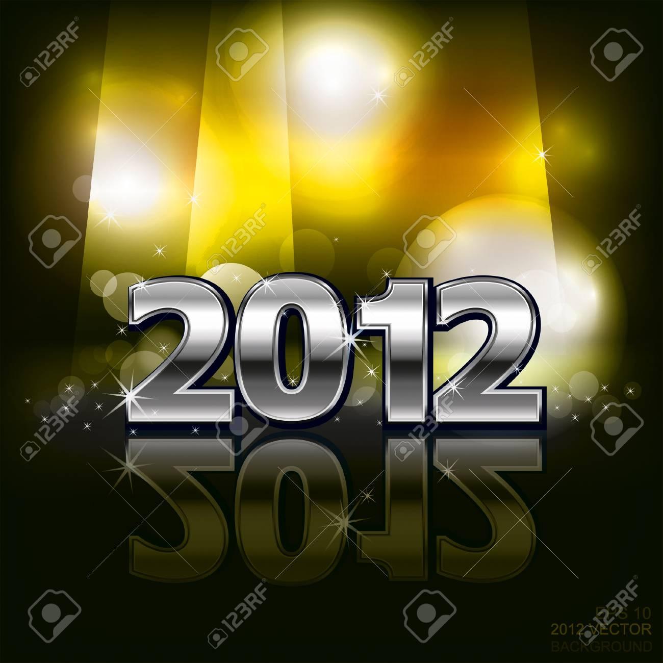 2012 in dark background. Vector Stock Vector - 11813595
