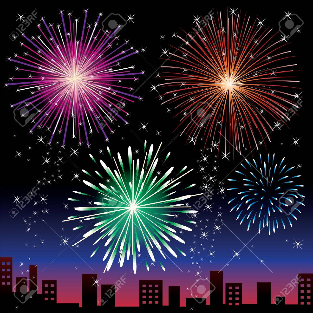 Fireworks night Stock Vector - 11813567