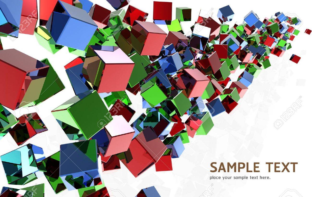 Abstract Crystal cubes background design Stock Photo - 13427790