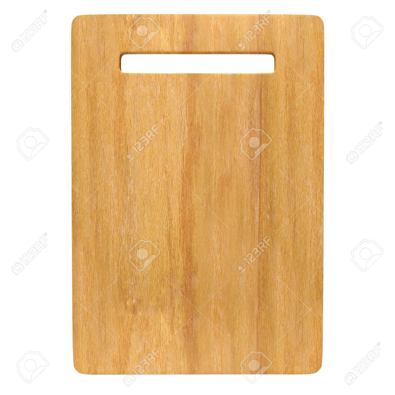 Wood Chopping board isolated on white background with Clipping path. Stock Photo - 13629153