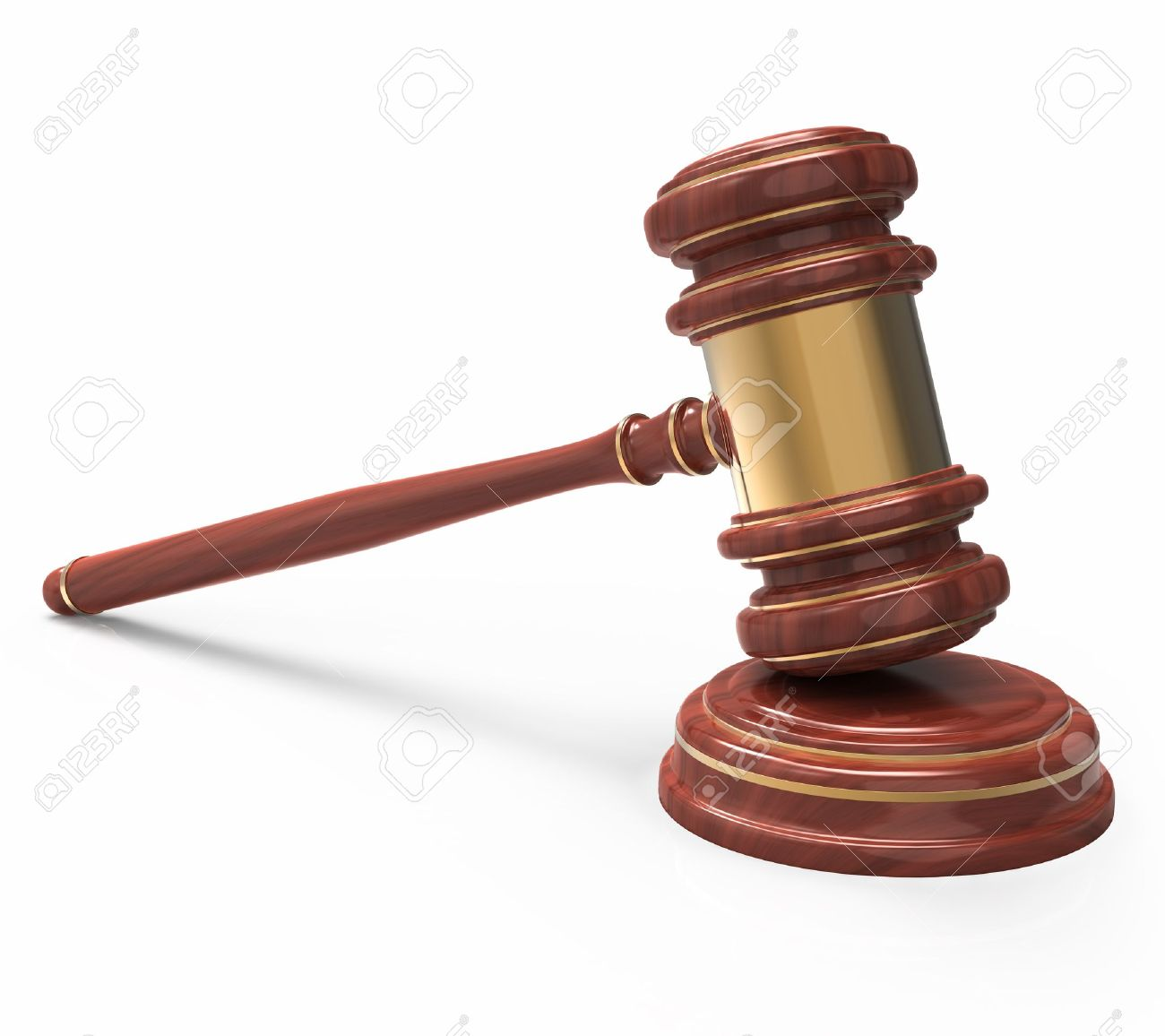 wooden Judge gavel isolated on white background with clipping path. Stock Photo - 13629134