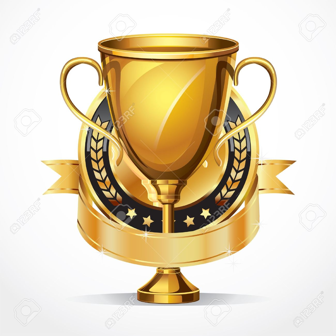 Golden award trophy and Medal illustration Stock Vector - 13926971