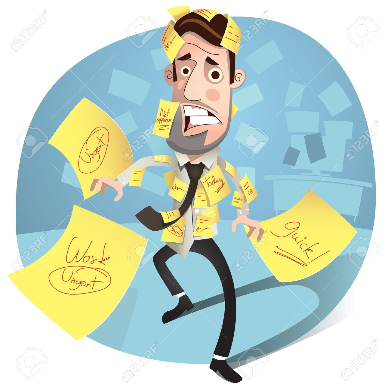Business man having a stress  worried and Headache Stock Vector - 13926903