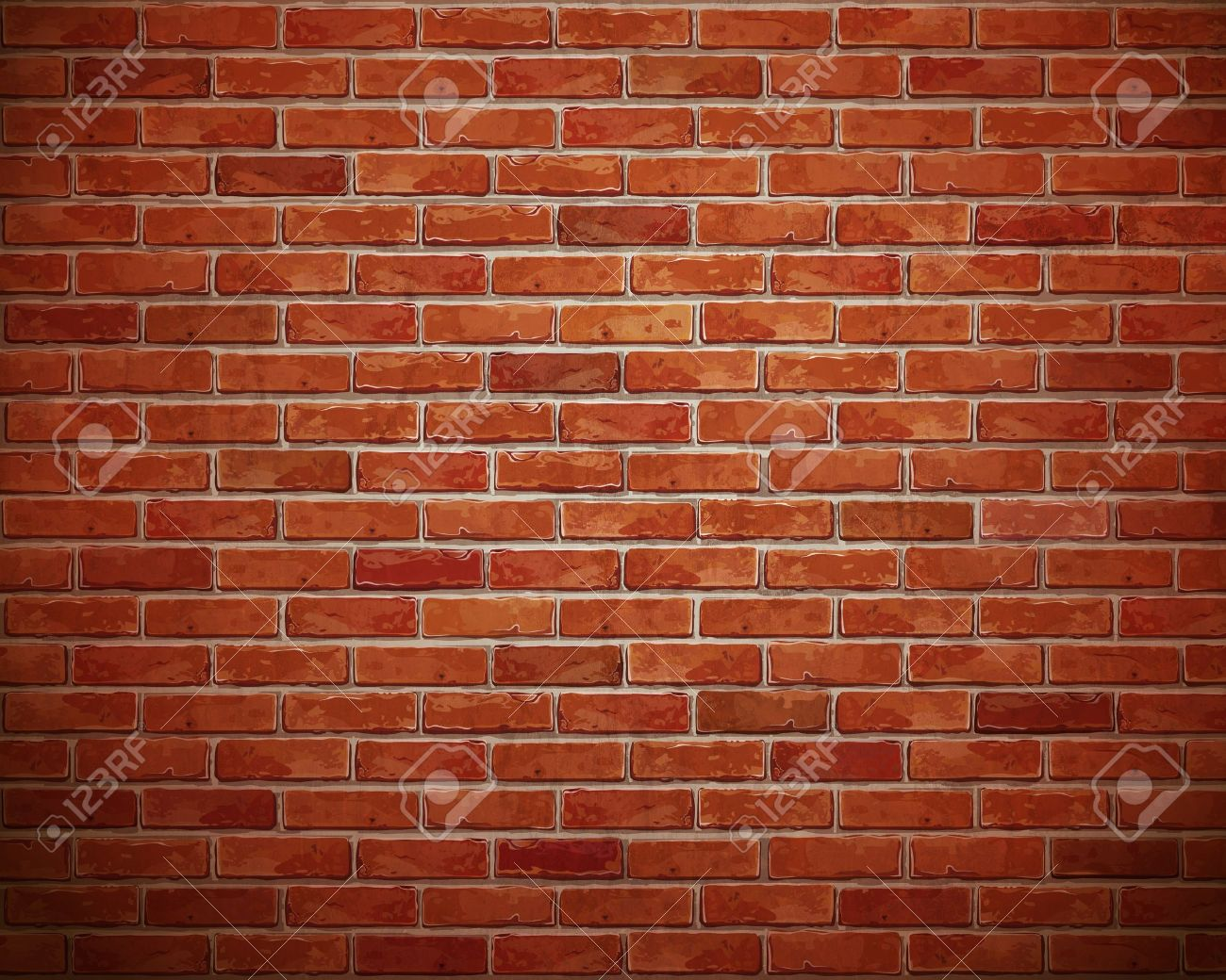 Red brick wall background Stock Photo - 14666857
