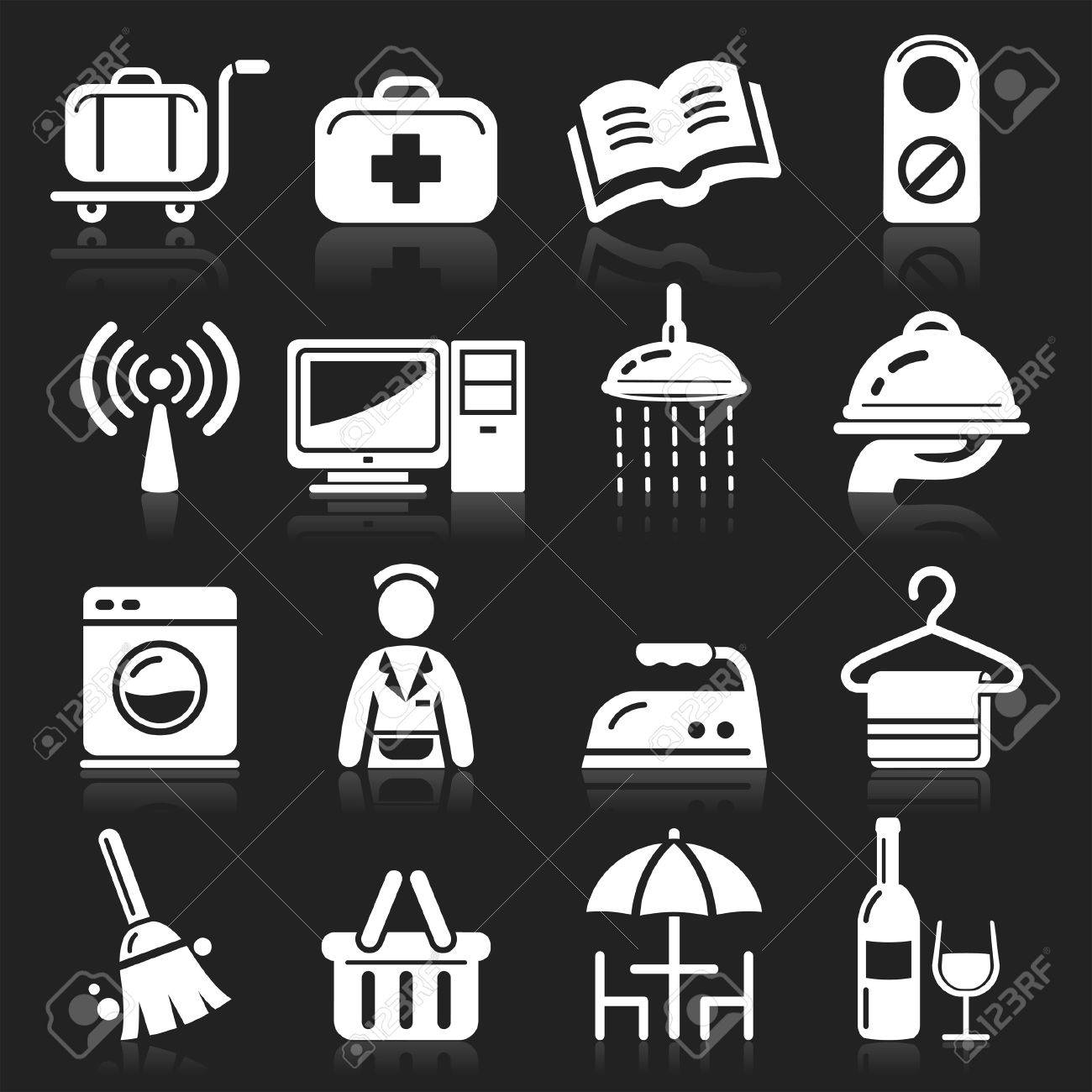Hotel icons set Stock Vector - 15280831