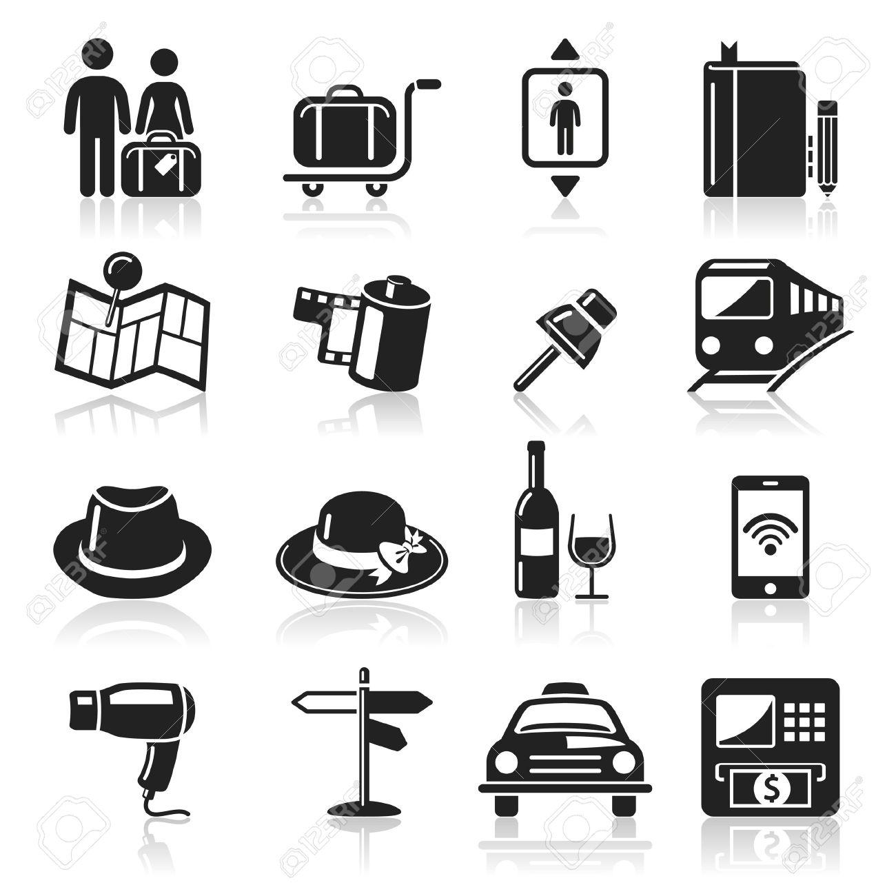 Travel icons set Stock Vector - 15280826