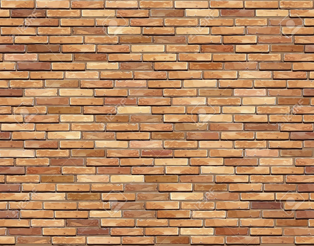 Brick wall seamless illustration background - texture pattern for continuous replicate Stock Vector - 15514560