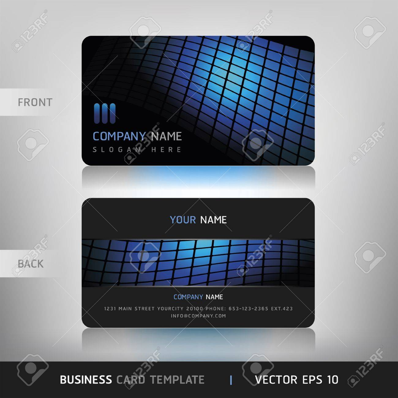 Business Card Set  Vector illustration Stock Vector - 15514621