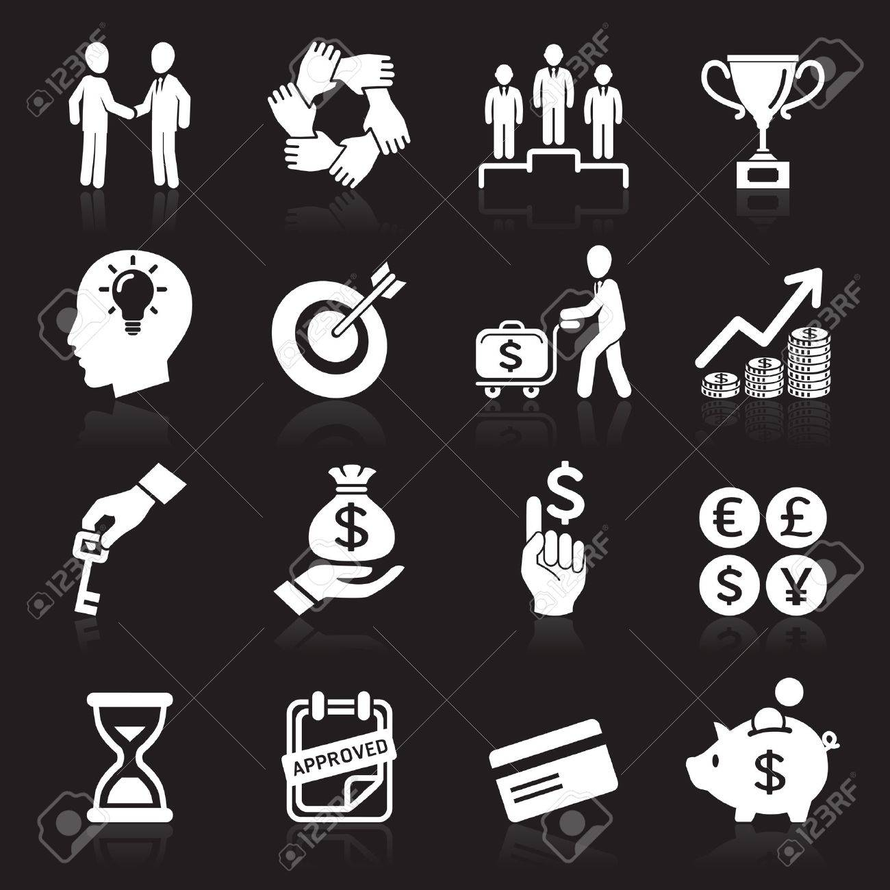 Business icons, management and human resources set6 Stock Vector - 16176210