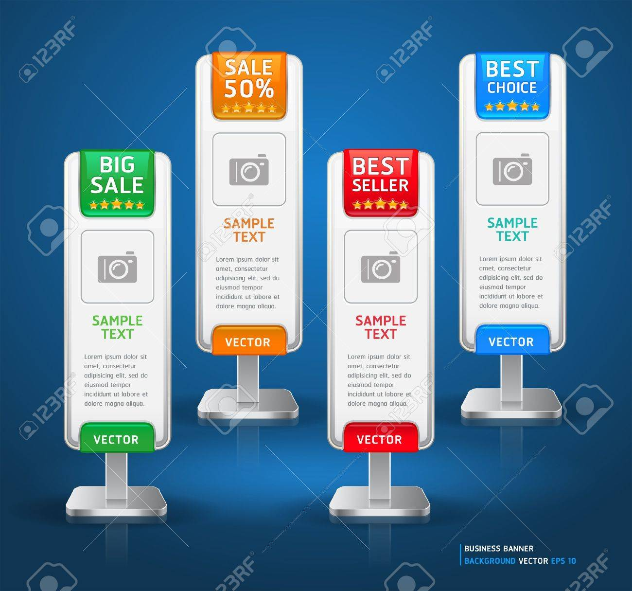 Business Stand Display Banner   Card Background  Vector illustration  More banner in my portfolio Stock Vector - 16176238