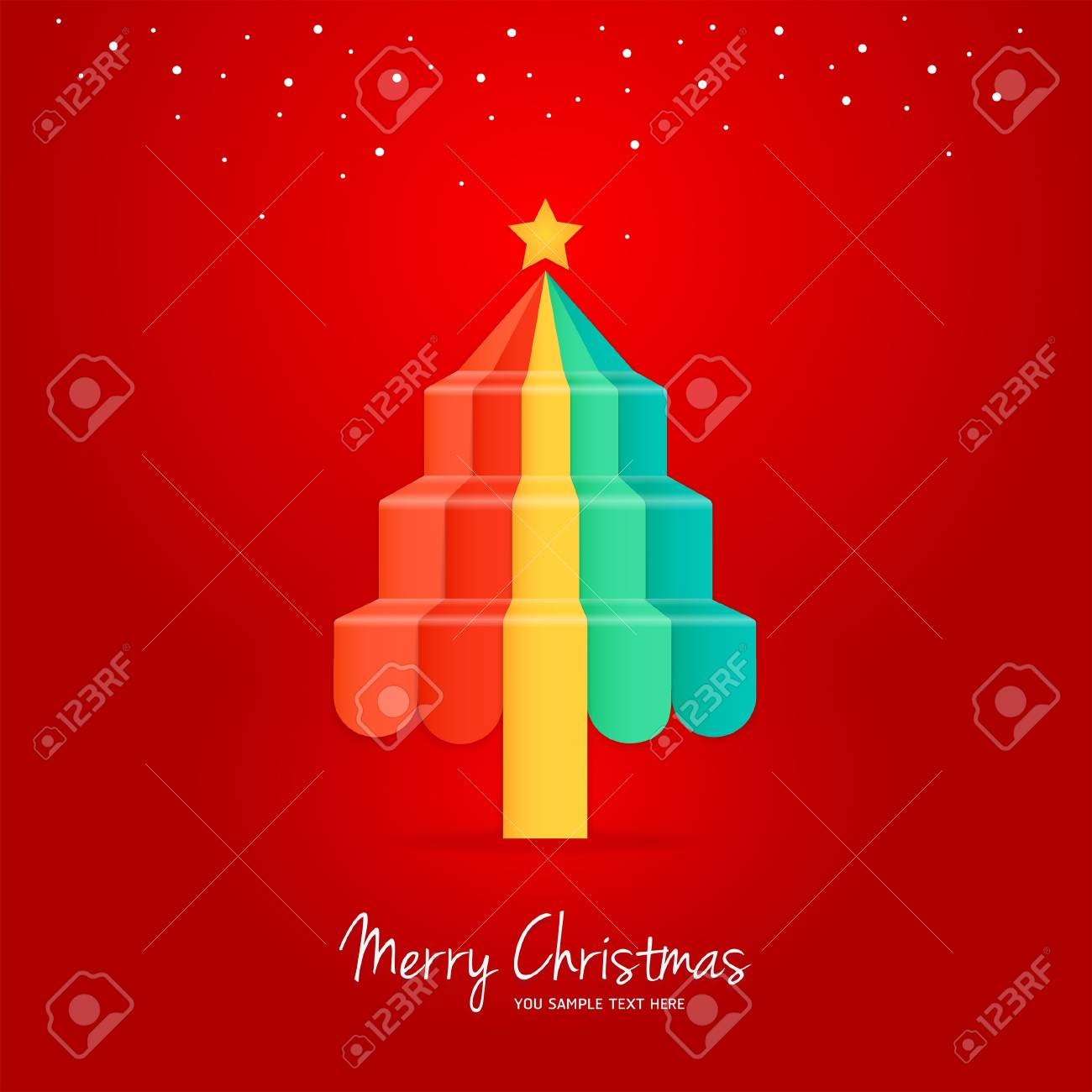 Christmas Greeting Card Stock Vector - 16272580