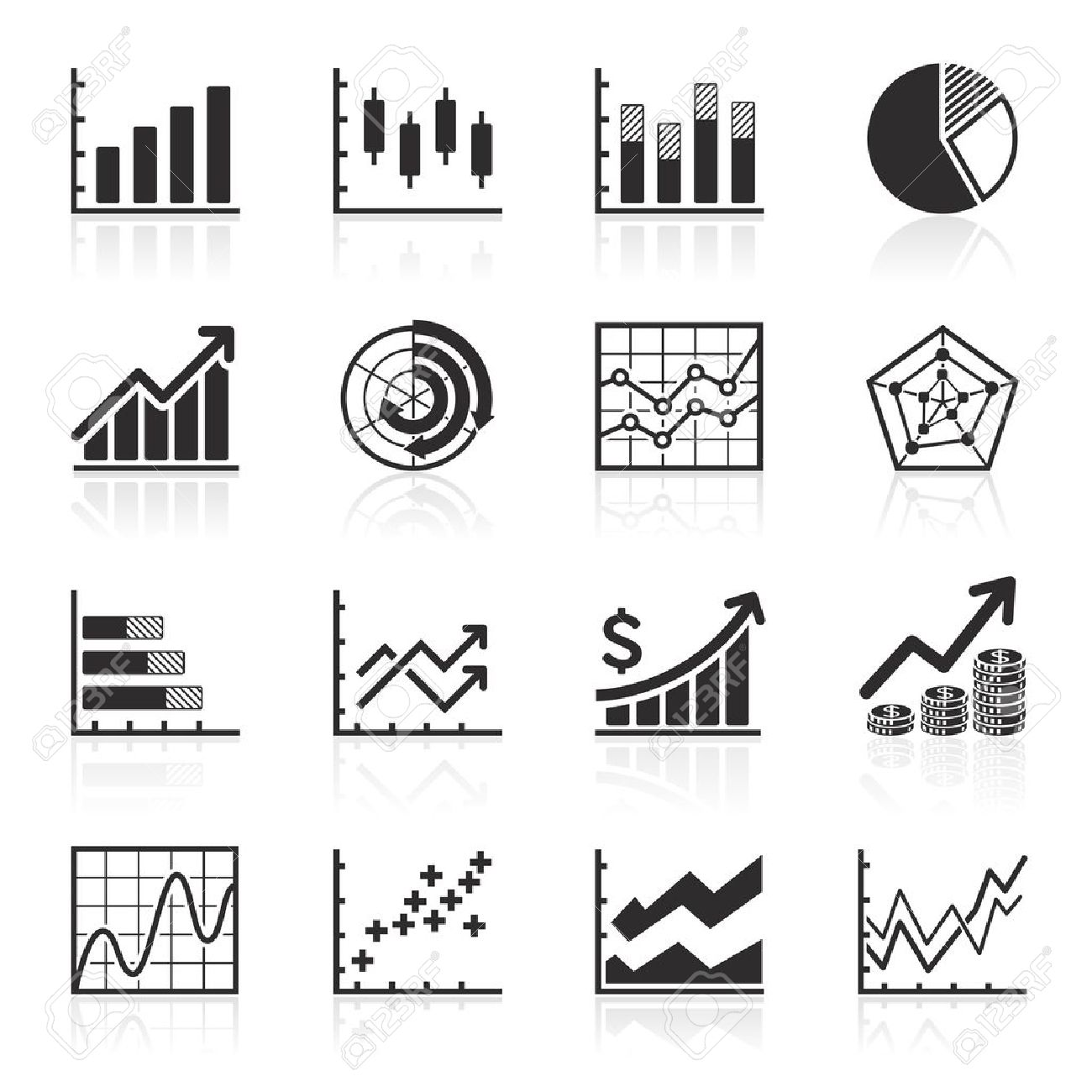 Business Infographic Icons - Vector Graphics Royalty Free Cliparts ...