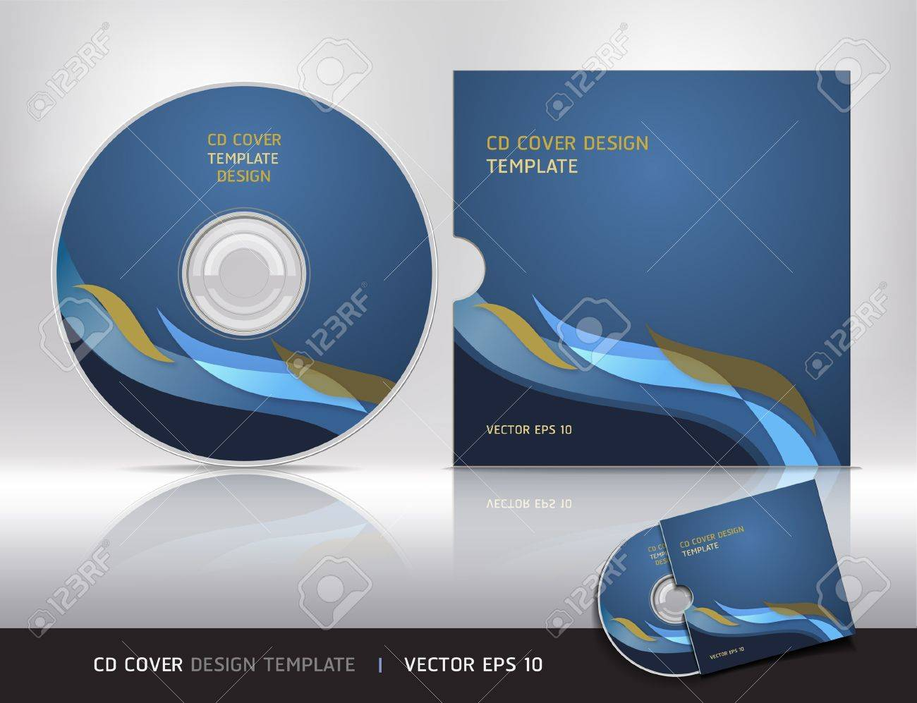 Cd box template download free vector art stock graphics amp images - Vector Cd Template Cd Cover Design Template Abstract Background Vector Illustration Illustration