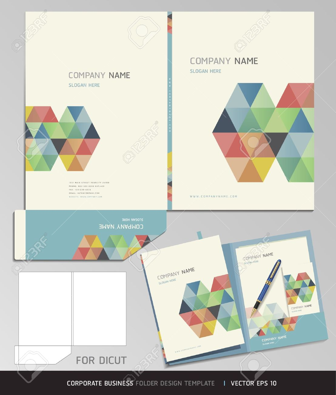 Corporate identity business set folder design template vector corporate identity business set folder design template vector illustration stock vector 16574861 wajeb Choice Image